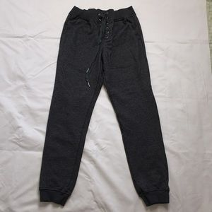 Gray joggers with lace up front.  Size small.